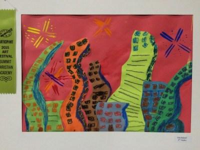 Dancing Buildings active lines art lesson for kids