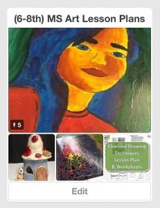 (6-8th) MS Art Lesson Plans Pinterest