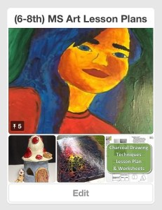 (6-8th) MS Art Lesson Plans Pinterest