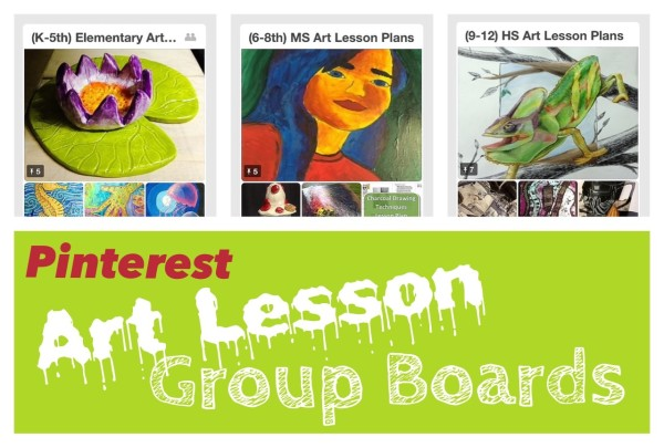Join Pinterest Art Lesson Group Boards