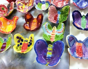Ceramic clay Butterfly Bowls