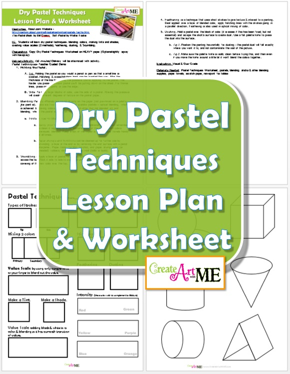 dry pastel techniques worksheet lesson plan create art with me. Black Bedroom Furniture Sets. Home Design Ideas