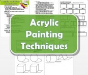 Acrylic Painting Techniques Lesson Plan and worksheet