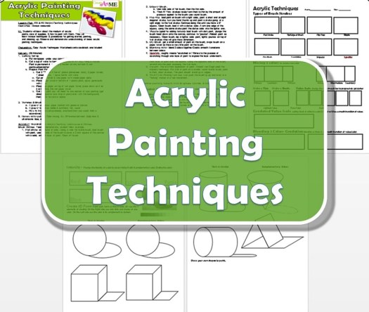 Acrylic Painting Techniques Lesson Plan And Worksheet Create Art With Me