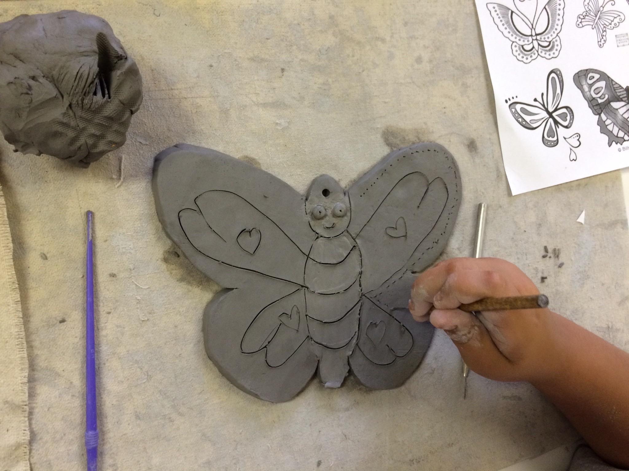 Ceramic Butterfly Bowls Part 1 Slab Construction