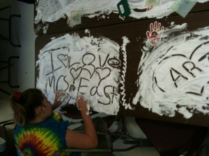 Shaving Cream Table Fun