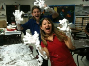 Shaving Cream Table Fun Scupture