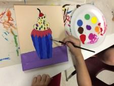 WayneThiebaud Cupcake Acrylic Painting
