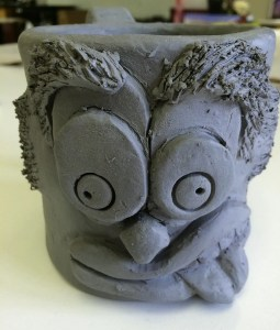 Funny Face Mugs Slab Ceramics Lesson