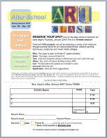 After School Art Sign Up Form