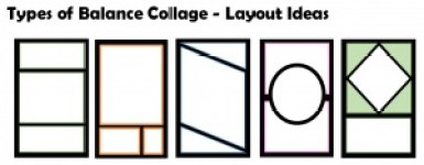 Types of Balance Collage Layout Ideas
