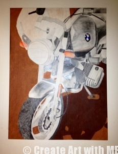 Motorcycle Mixed Media