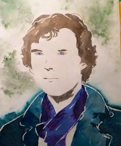Watercolor Experiments & Pouring Portrait art lesson