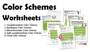 Types of Color Schemes Worksheets
