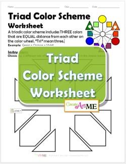 Triad Color Scheme Worksheet
