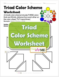 Triad Color Scheme Worksheet