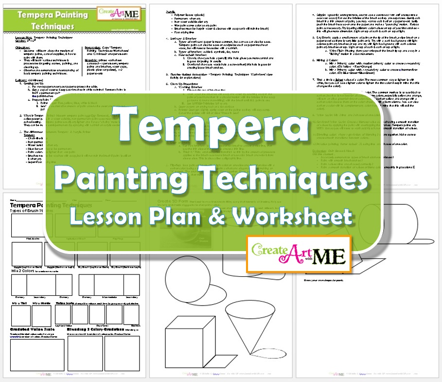 tempera painting techniques lesson plan worksheet create art with me. Black Bedroom Furniture Sets. Home Design Ideas