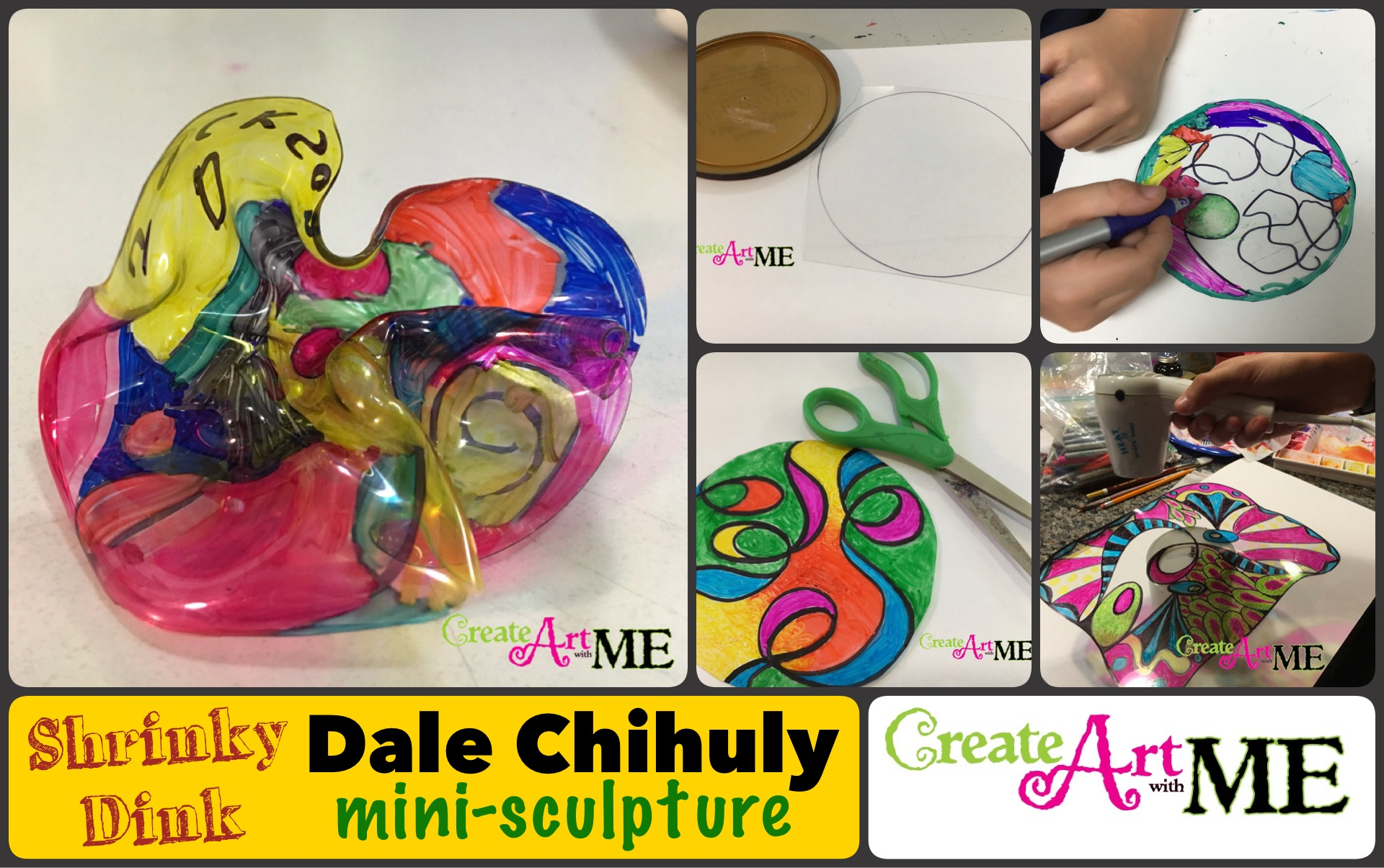 Dale Chihuly Shrinky Dink Mini Sculptures