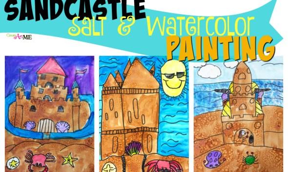 Sand Castle Salt Watercolor Painting