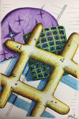 chex mix cross-hatching drawing drawing observation skills composition rule of thirds