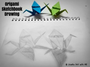 Origami Sketchbook Drawing