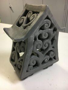 ceramic clay lantern