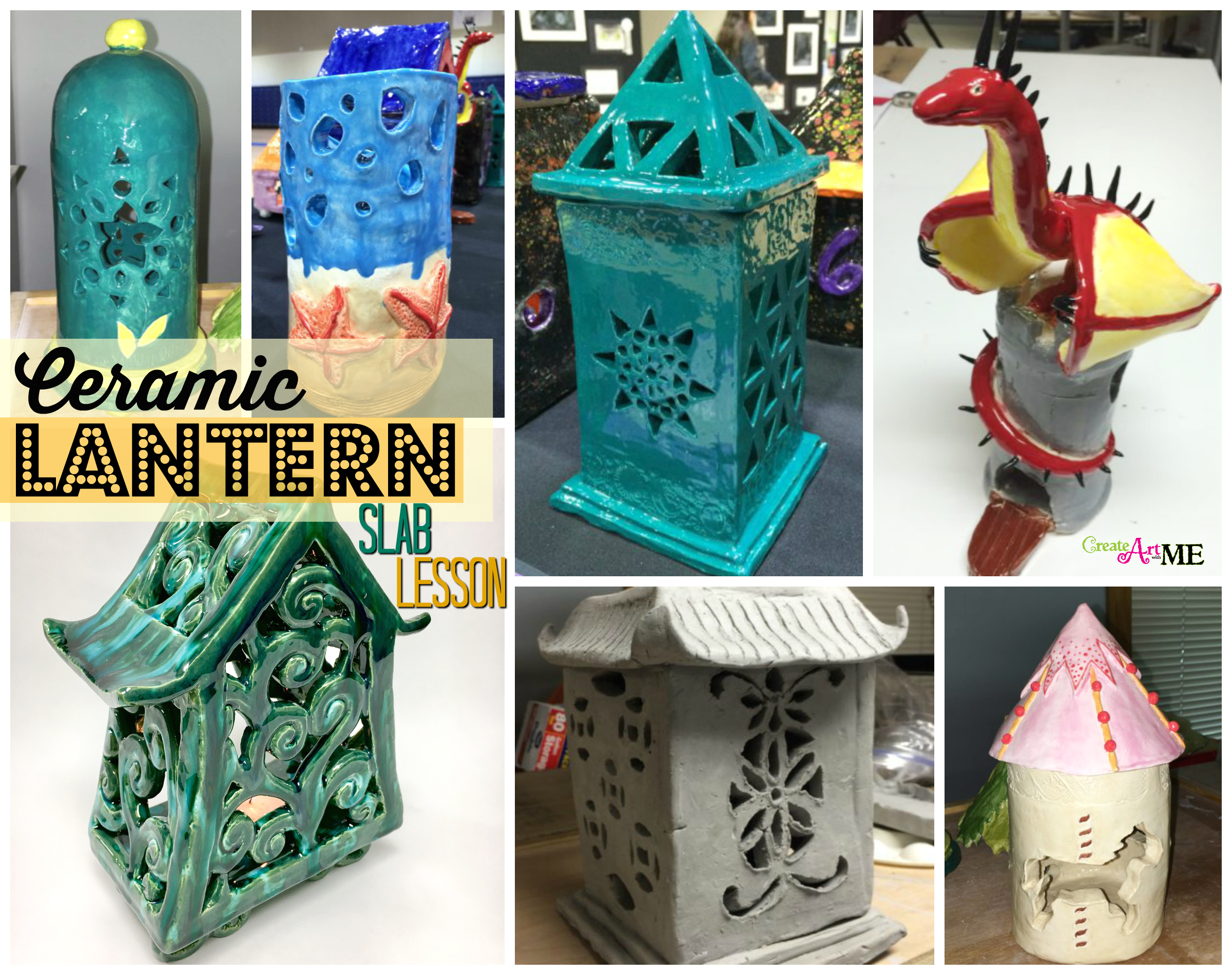 Ceramic Slab Lanterns Cut Out Design Create Art With Me