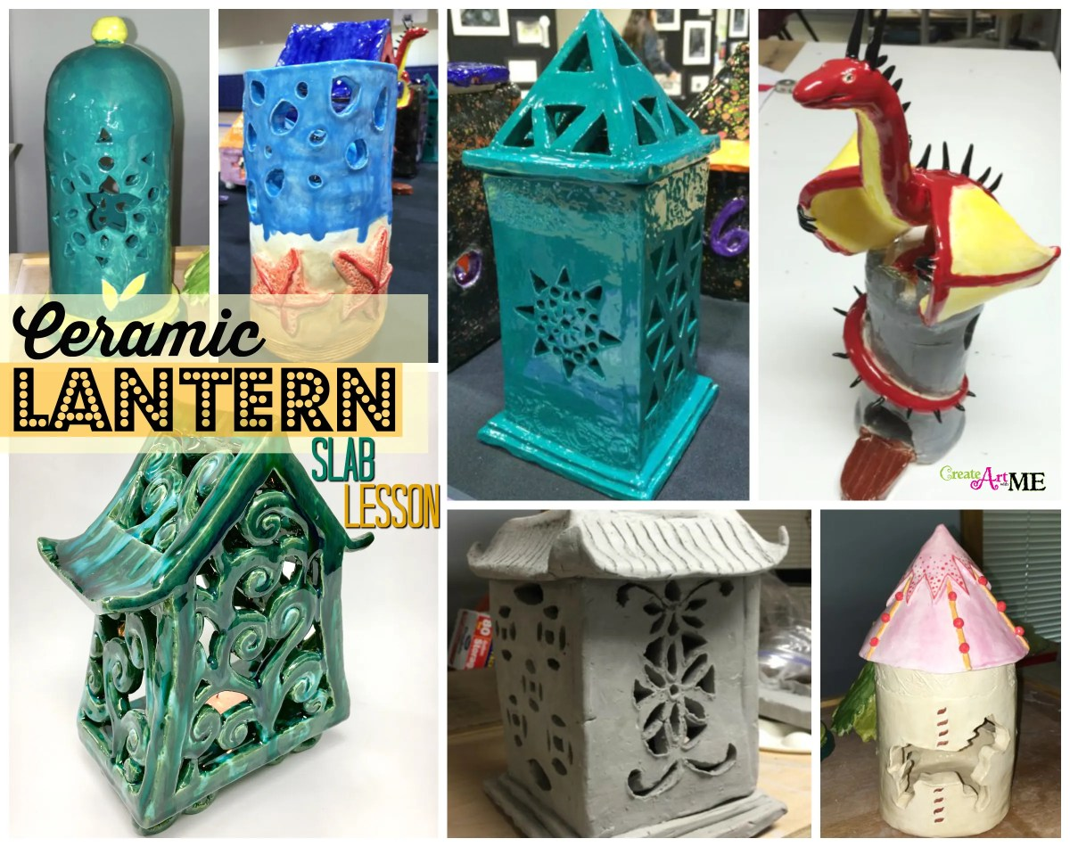 Ceramic Slab Lanterns Cut-Out Design