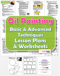Oil Painting Techniques Lesson Plans & Worksheets