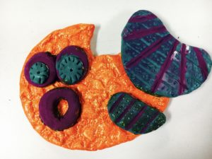 Texture Fish Air Dry Clay Project