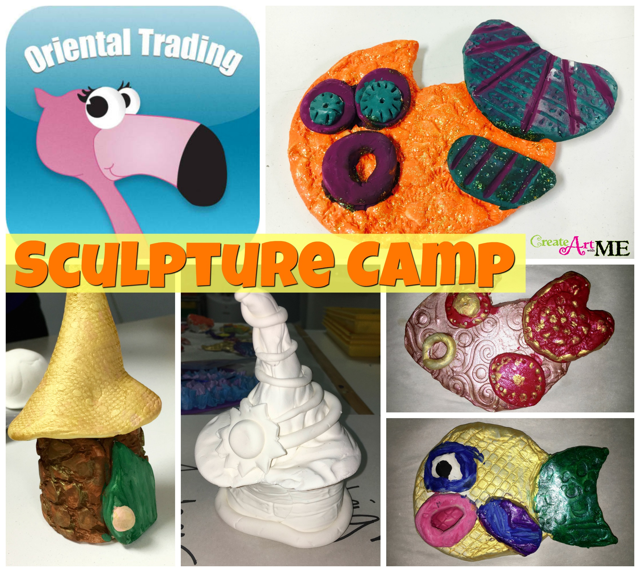 Sculpture Camp Air Dry Clay And Model Magic Projects