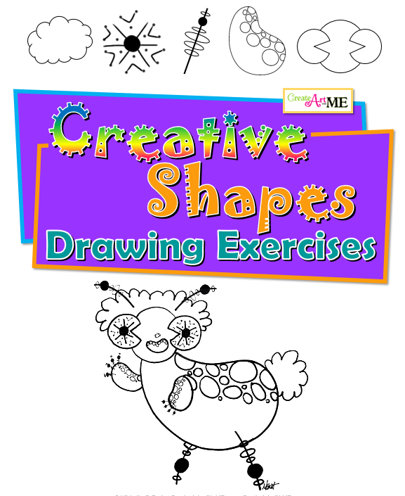 Creative Shapes Drawing Exercises Volume 1 - Create Art with ME