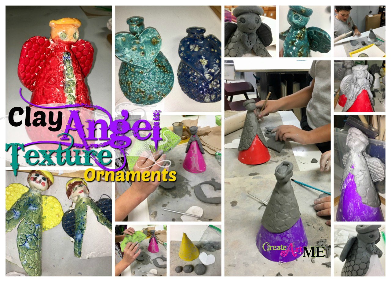 Ceramic Slab Angel Ornaments Clay Lesson