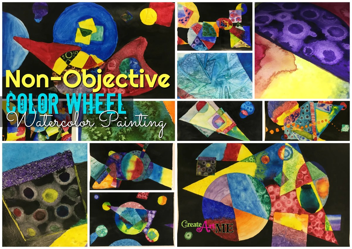 Non-Objective Color Wheel Watercolor Lesson