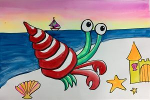 Hermit Crab and Sand Painting