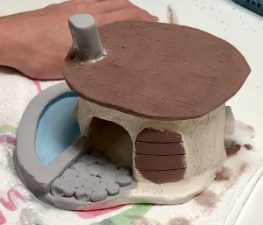 Clay Slab Fairy House Gnome Home Art LessonClay Slab Fairy House Gnome Home Art Lesson