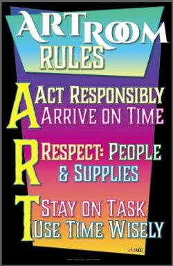 Art Room Rules Printable Sign
