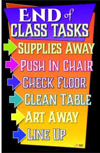 End of Class Tasks Printable Sign Poster