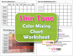 Skin Tone Color Mixing Chart