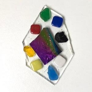 Glass Fusing Pendant in Ceramic Kiln