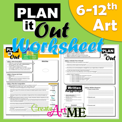 Artwork Plan it Out Worksheet