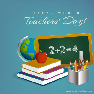Free Teacher S Day Greeting Cards Maker Online Create Custom Wishes