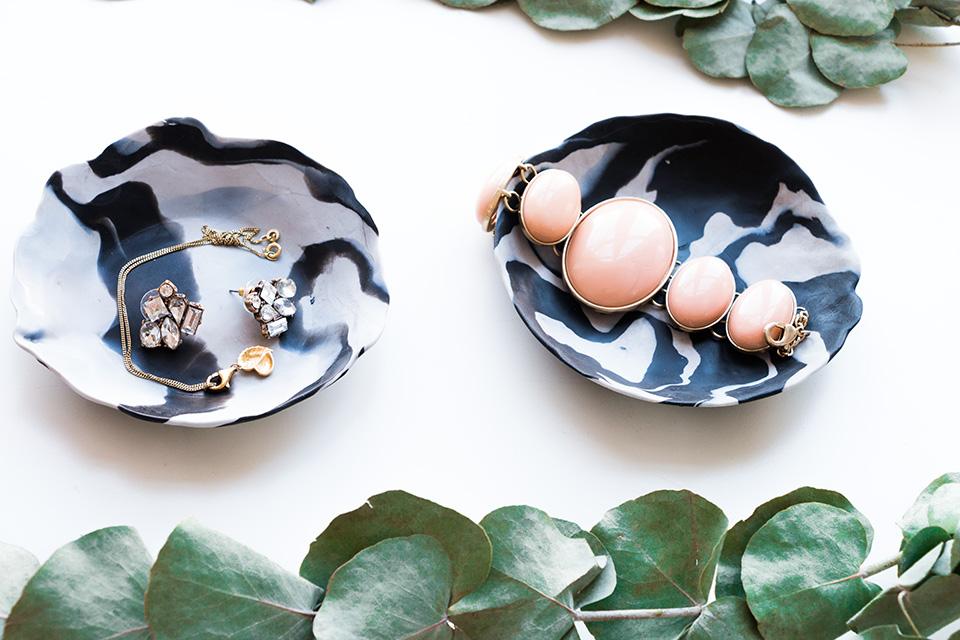 Marmor Schalen DIY mit Fimo