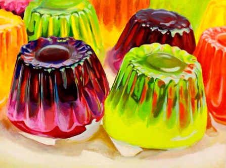 """SOLD """"Jelly Towers"""" - original painting, acrylic on canvas, 200x150 cm"""