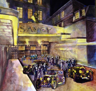 Savoy painting sketch, watercolor on paper