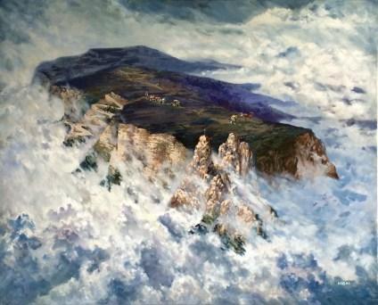 cycling-mountain-acrylic-painting