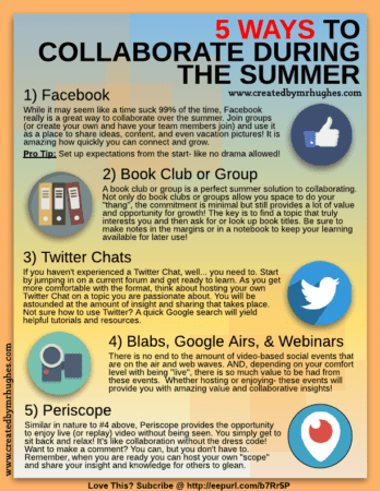 5 Ways to Collaborate During the Summer - LR