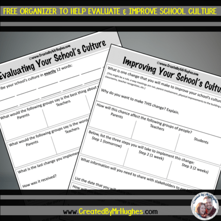 FREE worksheet to Evaluate and Improve School Culture