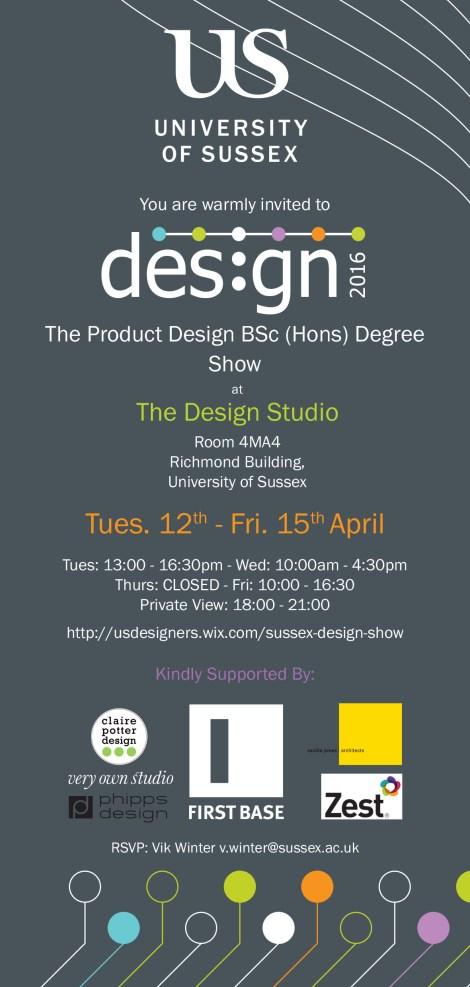 Product Design Show 2016 invite