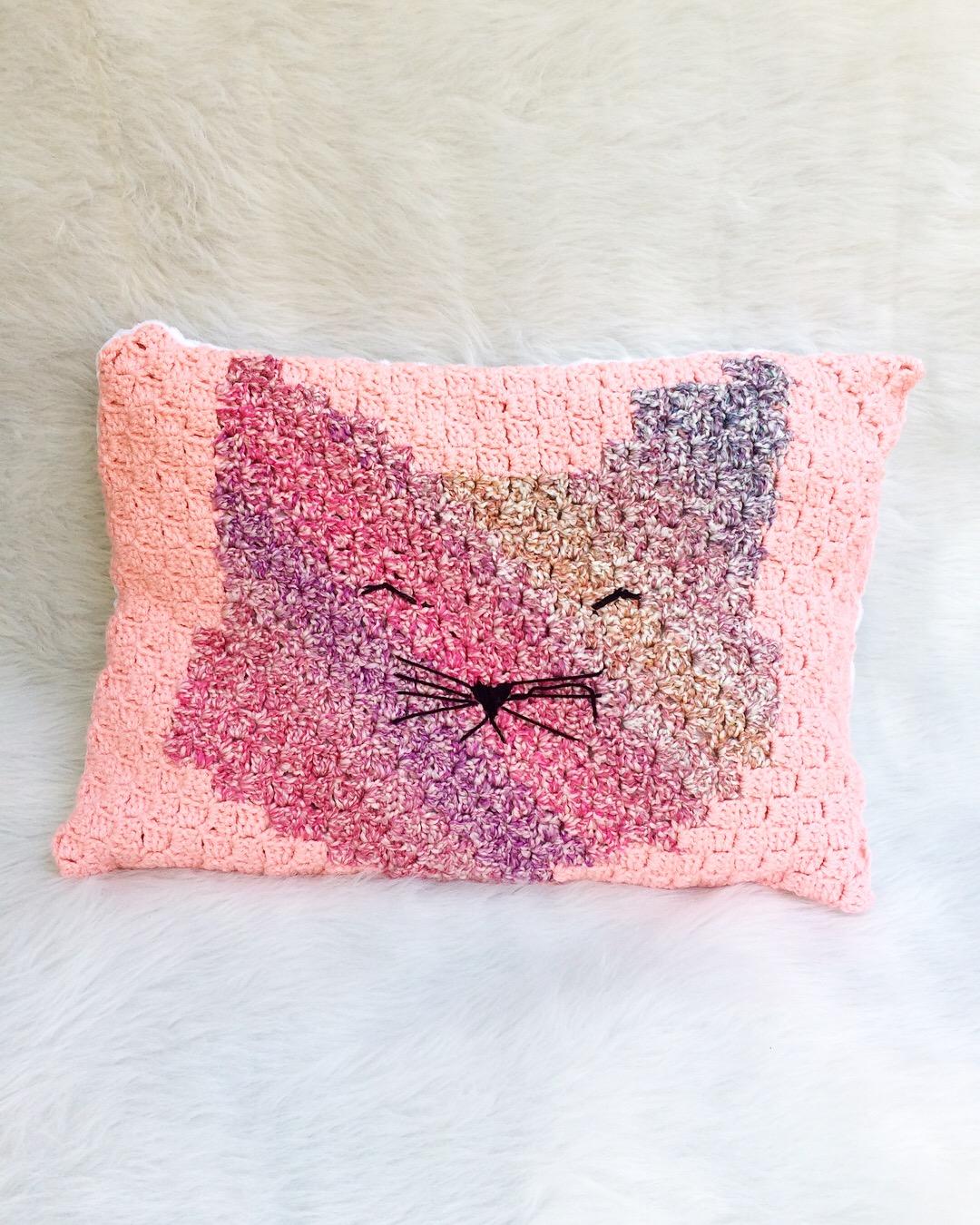 Crochet Crazy - CROCHET CAT PILLOW PATTERN! Get the... | Facebook | 1350x1080